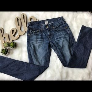 🔥👀Men's True Religion Bootcut washout Jeans 👖